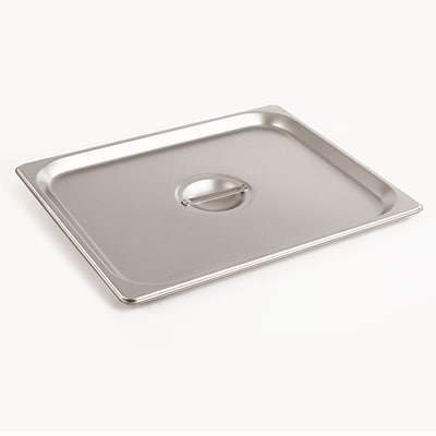 FFR Merchandising Stainless Steel Pans And Accessories; Half Cover, 2/Pack (9922510883)