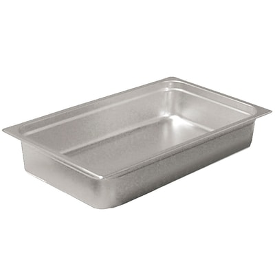 FFR Merchandising; Stainless Steel Pans and Accessories, 4D, Full Pan, 14.0 qt, 2/Pack (9922511081)