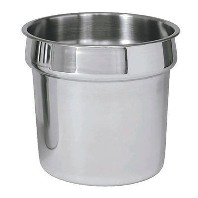 FFR Merchandising Soup Pots and Covers; 7.25qt Pot, 9 1/2 dia x 8 1/4 D, 2/Pack (9922516337)