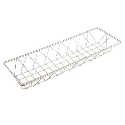 FFR Merchandising Wire Display Baskets and Trays; Smooth Gray Basket, 6W x 18L x 2H, 2/Pack (9922816401)