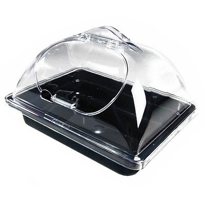 FFR Merchandising Unbreakable Dome Side-Cut for Self-Serve Olive Display Pans; Clear, 10W x 12L (9923919390)