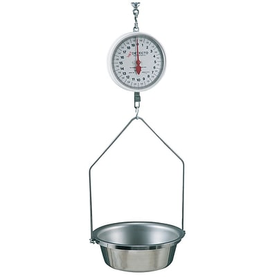 FFR Merchandising Hanging Scale With Pan, 20lb x 1oz (9925614287)