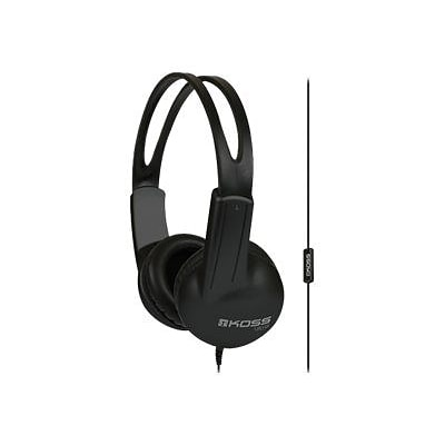 Koss® UR10I Stereo On-Ear Headphones with Mic; Black