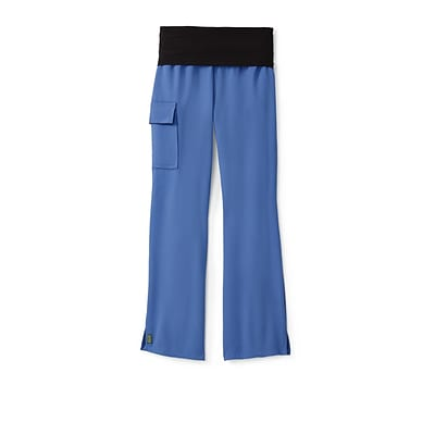 Ocean AVE™ Ladies Yoga Elastic Waist Scrub Pant, Ceil Blue, MP