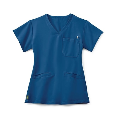 Berkeley AVE™ Ladies Scrub Top With Welt Pockets, Royal Blue, Medium