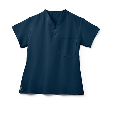 Fifth AVE.™ Unisex Scrub Top, Navy, Small