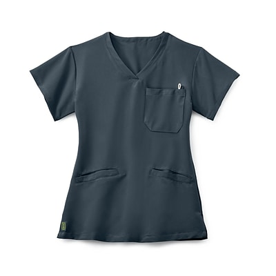 Berkeley AVE.™ Ladies Scrub Top With Welt Pockets, Charcoal, Small
