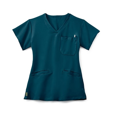 Berkeley AVE.™ Ladies Scrub Top With Welt Pockets, Caribbean Blue, Medium