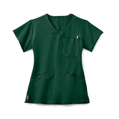 Berkeley AVE.™ Ladies Scrub Top With Welt Pockets, Hunter Green, 3XL