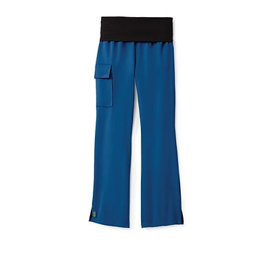 Ocean AVE™ Ladies Yoga Elastic Waist Scrub Pant, Royal Blue, MT