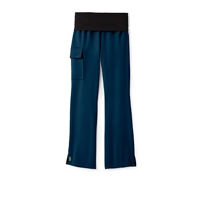 Ocean AVE™ Ladies Yoga Elastic Waist Scrub Pant, Navy, SP