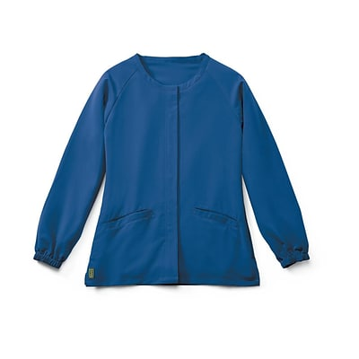 Addison AVE™ Unisex Hidden Snap Warmup Scrub Jacket, Royal Blue, 2XL
