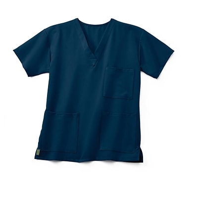 Madison AVE™ Unisex Scrub Top With 3 Pockets, Navy, 3XL
