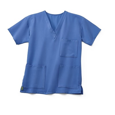 Madison AVE™ Unisex Scrub Top With 3 Pockets, Ceil Blue, Medium