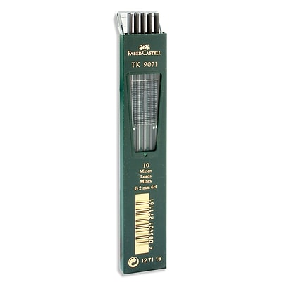 Faber-Castell TK 9400 Clutch 6H Drawing Pencil Leads, 10/Set, 3/Pack (98421-PK3)