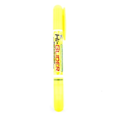 Yasutomo Hi-Glider Gel Stick Highlighters yellow [Pack of 15]