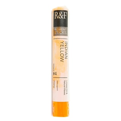 R  And  F Handmade Paints Pigment Sticks Indian Yellow 38 Ml