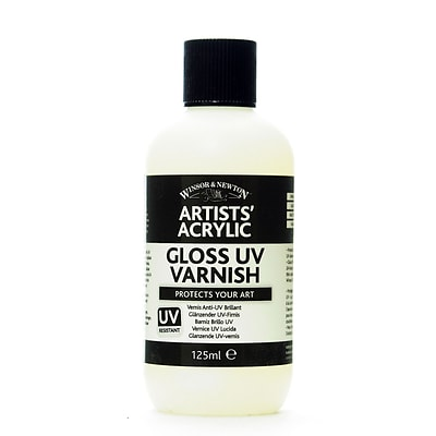 Winsor And Newton Artists Acrylic Uv Varnishes Gloss 125 Ml Bottle [Pack Of 2]