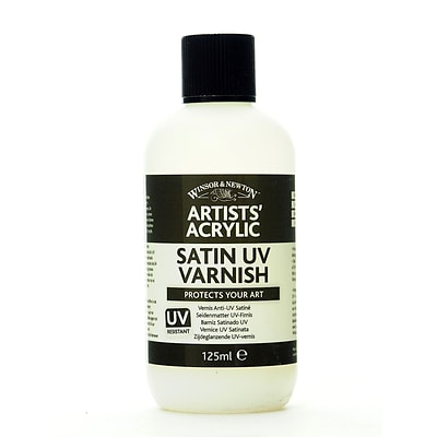 Winsor And Newton Artists Acrylic Uv Varnishes Satin 125 Ml Bottle [Pack Of 2]