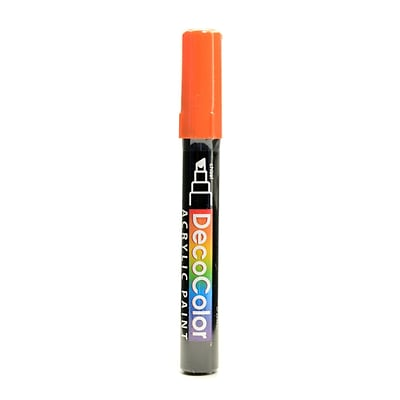 Marvy Uchida Decocolor Acrylic Paint Markers orange chisel tip [Pack of 6]