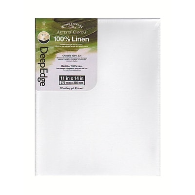 Winsor And Newton Artists Deep Edge Linen Canvas 11 In. X 14 In.