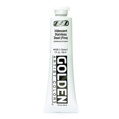 Golden Iridescent And Interference Acrylics Iridescent Stainless Steel Fine 2 Oz.