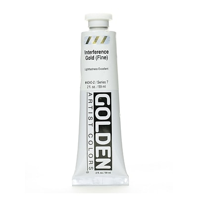 Golden Iridescent And Interference Acrylics, Interference Gold, Fine, 2Oz (87556)