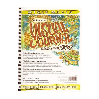 Strathmore Visual Mixed Media Journals 9 In. X 12 In. 34 Sheets [Pack Of 2]