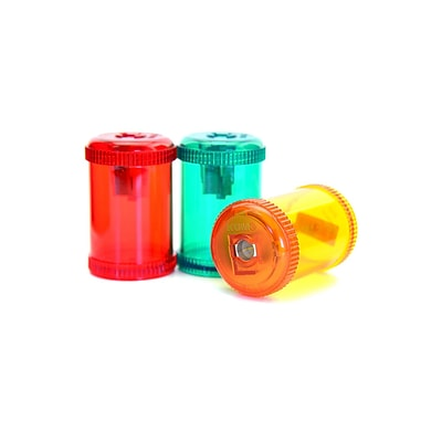 Kum Barrel pencil sharpeners 1 hole pencil sharpener [Pack of 12]