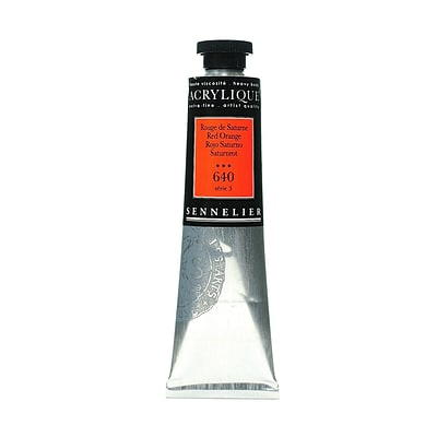 Sennelier Extra-Fine Artist Acryliques Red Orange 640 60 Ml [Pack Of 2]