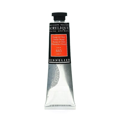 Sennelier Extra-Fine Artist Acryliques Chinese Orange 645 60 Ml [Pack Of 2]