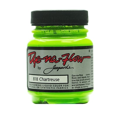 Jacquard 64269-Pk4 Dye-Na-Flow Fabric Colors, Chartreuse, 2 1/4Oz, 818, 4/Pack