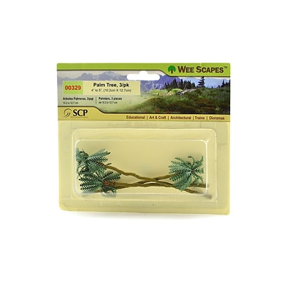 Wee Scapes 70411-Pk3 Architectural Model Trees, Palm, 4 - 5, 3/Pack