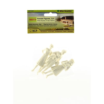 Wee Scapes Architectural Model White Styrene Figurines Human Females 1/2 In. Pack Of 3 [Pack Of 3]