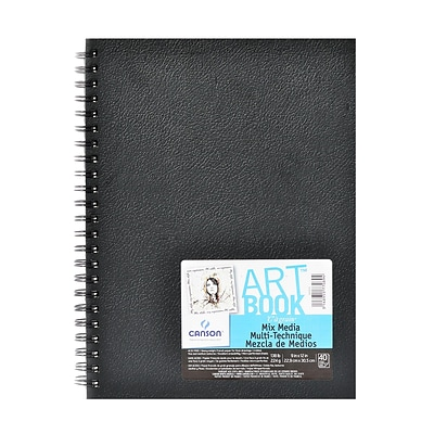 Canson Art Book All Media Watercolor Sketch Books 9 In. X 12 In. Heavy Weight 40 Sheets