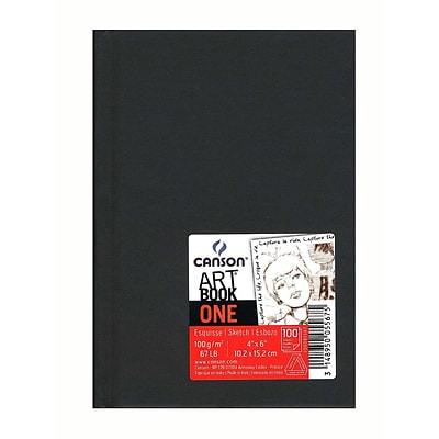 Canson Art Book One Sketch Books, Hardbound, 4 X 6, 100 Sheets, 4/Pack (60532-Pk4)