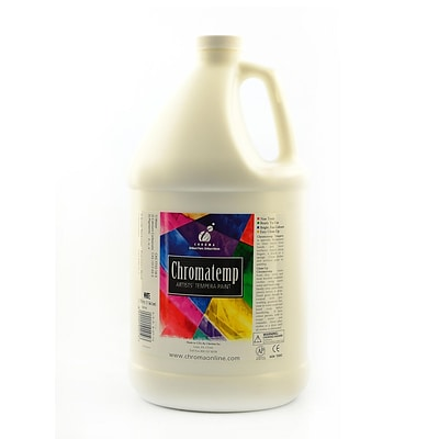 Chroma Inc. Chromatemp Artists Tempera Paint, White, Gallon (31748)