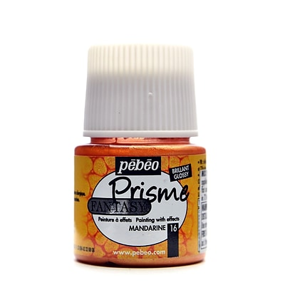 Pebeo Fantasy Prisme Effect Paint Mandarin 45 Ml [Pack Of 3]