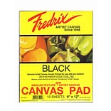 Fredrix Black Canvas Pads 9Inx12In 10 Sheet
