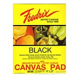 Fredrix Black Canvas Pads 12x16 10 Sheets