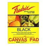 Fredrix Black Canvas Pads 16x20 10 Sheets