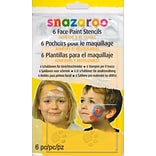 Snazaroo Face Paint Stencils Unisex Set Of