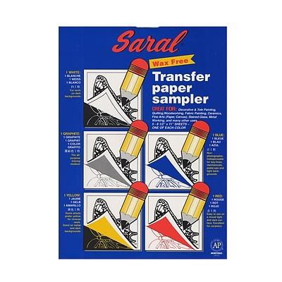 183f3363e Saral Transfer (Tracing) Paper Sampler, 5 Sheets, 8 1/2 X