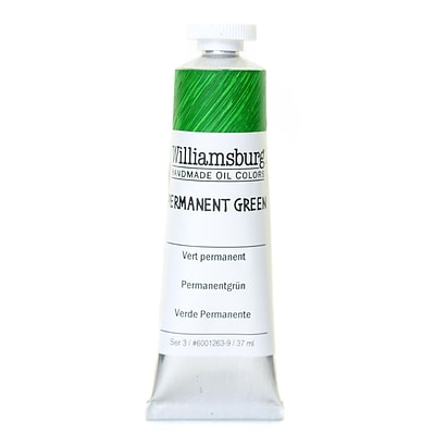 Williamsburg Handmade Oil Colors Permanent Green 37 Ml