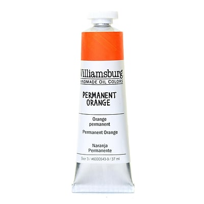 Williamsburg Handmade Oil Colors Permanent Orange 37 Ml