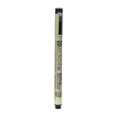 Sakura Pigma Micron black 02 (0.30 mm) [Pack of 6]