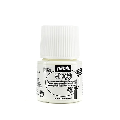 Pebeo Vitrea 160 Glass Paint Cloud Frosted 45 Ml [Pack Of 3]