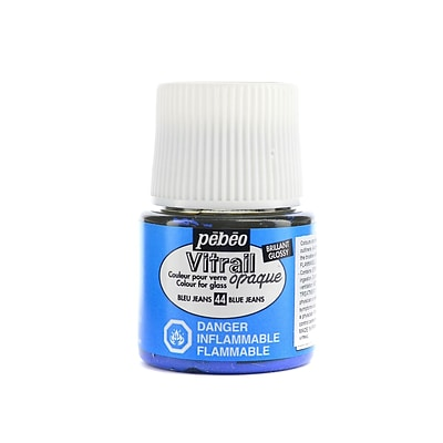Pebeo Vitrail Paint Blue Jeans 45 Ml [Pack Of 3]