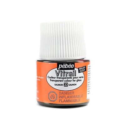 Pebeo Vitrail Paint Salmon 45 Ml [Pack Of 3]