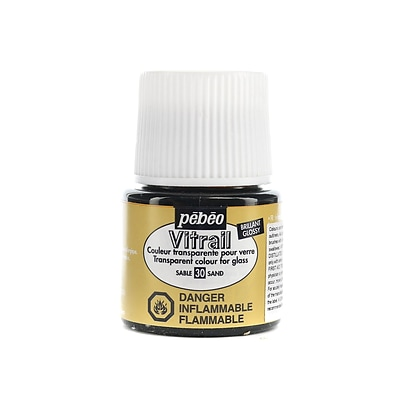 Pebeo Vitrail Paint Sand 45 Ml [Pack Of 3]